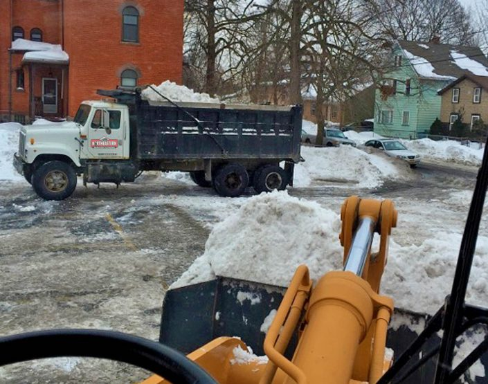 commercial snowplaowing and salting rochester ny