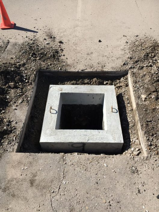 installing a catch basin