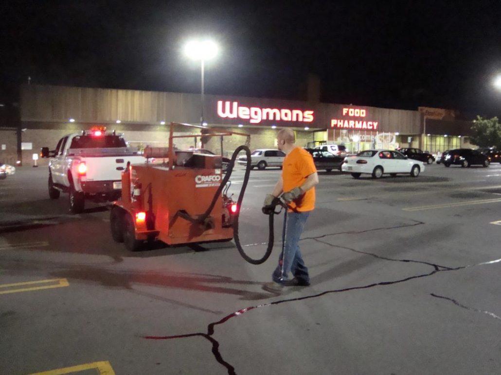 parking lot crack sealing
