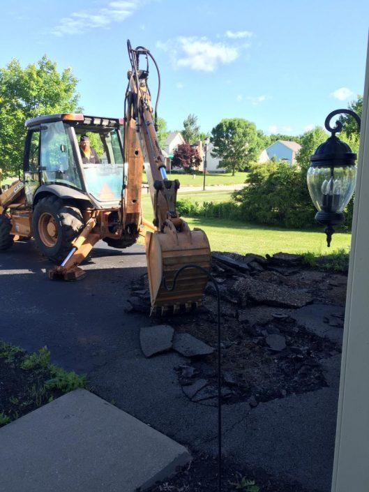 removing bad asphalt