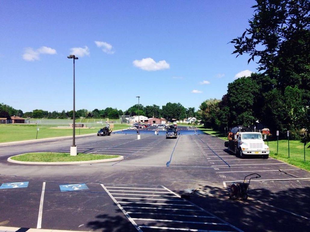 school parking lot crack sealing ny